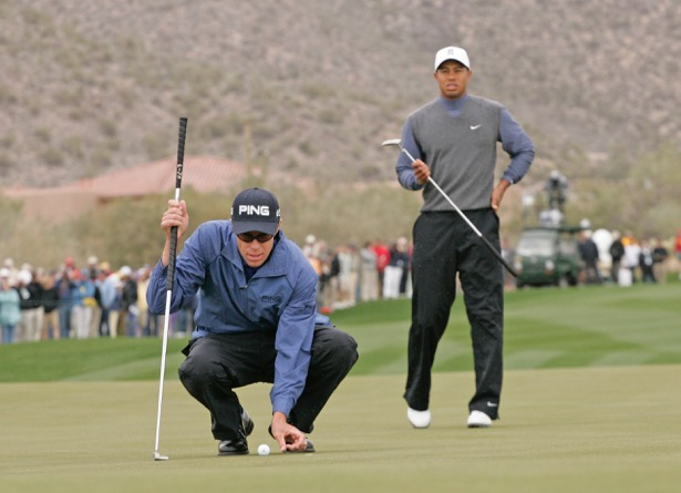 Tiger Woods and Nick O'Hern in 2007 Match Play